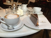 Coffee and Sachertorte at Demels in Vienna