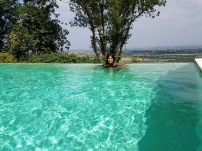 Taking a dip in the Infinity Pool