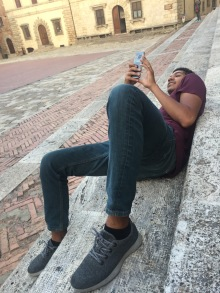 Taking a panorama of the Piazza